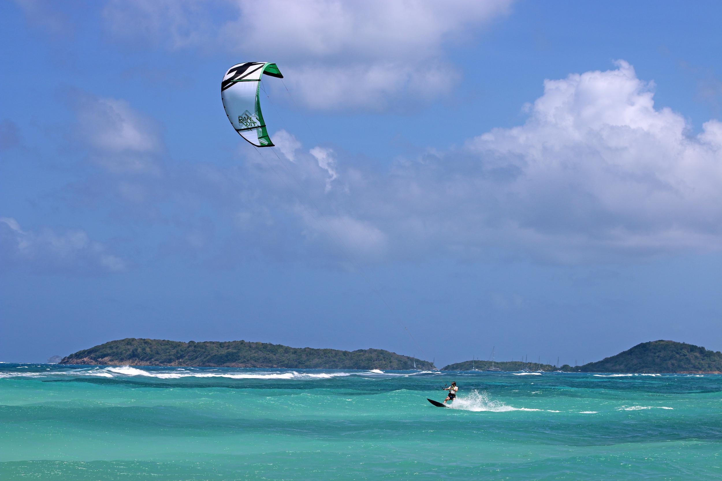 Mark Dixon kitesurfing