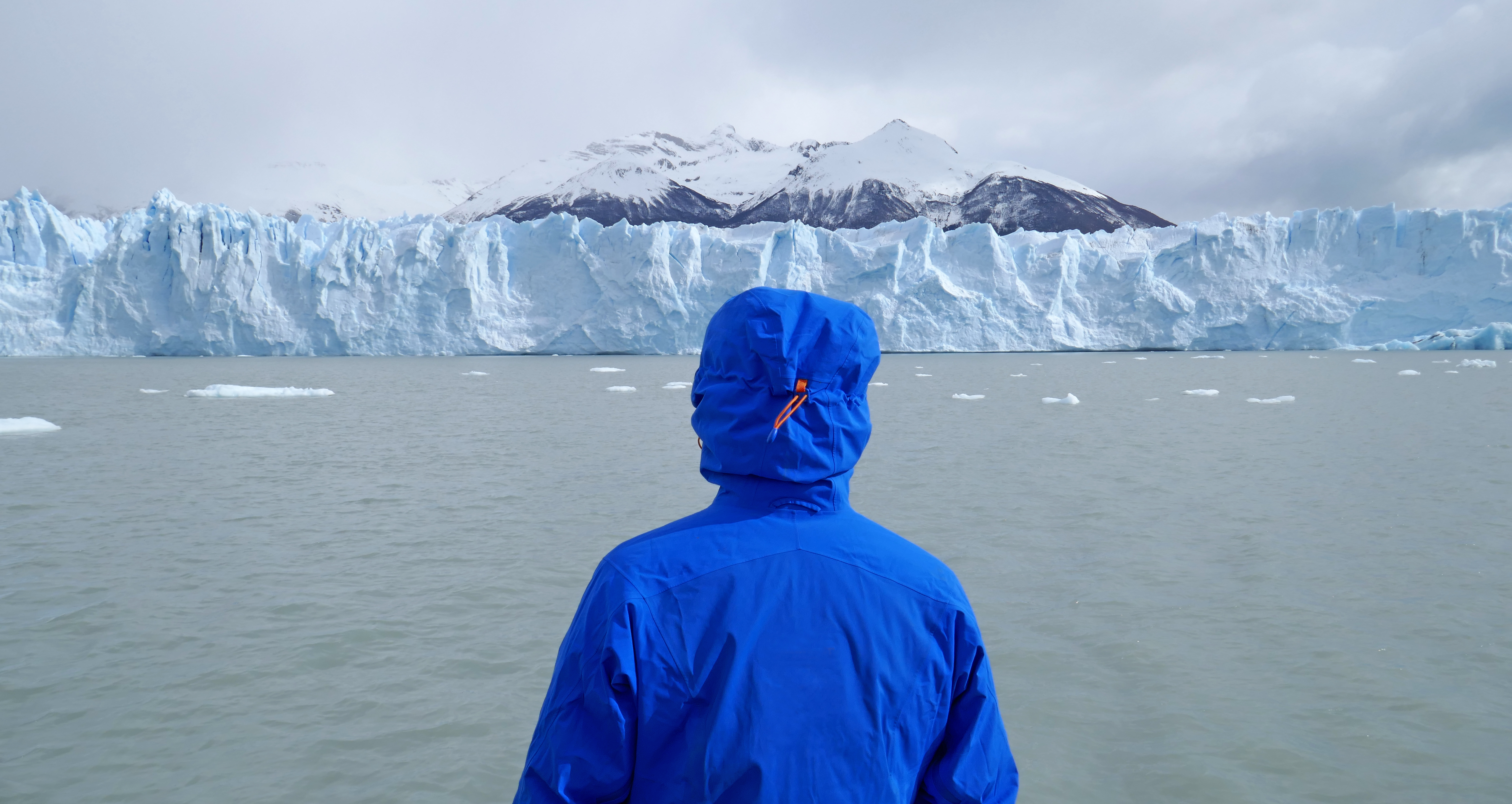 Glacial retreat due to climate change